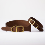 Fetch&Follow Hound Leather Collar Brown
