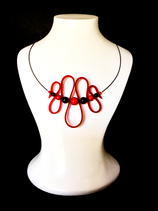 "Collier ""Spirale Rouge"""