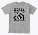G - T-shirt - Horse Crazy Camp - Black2