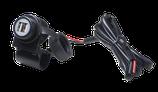 DOPPIA PRESA USB DA MANUBRIO - Kit di alimentazione da manubrio tubolare per moto con doppia presa USB.