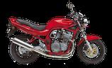 Terminale Suzuki Bandit 600 '96/99 ovale, carbonio racing + raccordo inox.