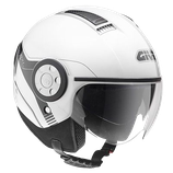 CASCO GIVI JET HELMET PLAIN WHITE