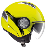 CASCO GIVI JET HELMET NEON YELLOW