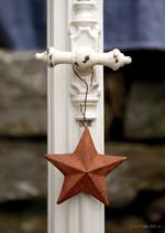 Postkarte Fenster mit Stern
