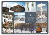 Postkarte SW Dutzend Winter blaugrau