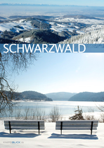 Postkarte SW 2Drittel Winter blau