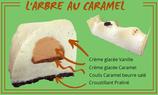 Bûche glacée fermière - vanille/caramel