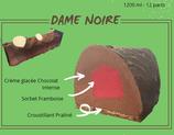 Bûche glacée fermière - chocolat intense et coeur de framboise