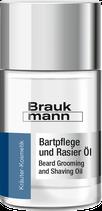 Bartpflege und Rasier Öl, 30 ml Flasche - BRAUKMANN