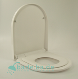 WC Sitz mit Kindersitz Absenkautomatik und D-Form / Soft-Close für Darling New Duravit