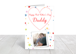 "A5 gloss coated father's day card ""Daddy"" ref FD10"