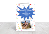 "A5 gloss coated father's day card ""Dad"" ref FD7"