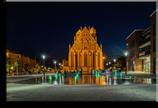 Marktberg bei Nacht - Leinwand