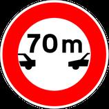 """B17* """"Intervalle minimal à respecter avec le véhicule qui précède"""""""