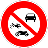 """B7b """"Interdiction d'accès à tous les véhicules à moteurs"""""""