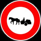"""B9c """"Accès interdit aux véhicules à traction animale"""""""