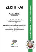 Zertifizierung als Birkenbihl Sprach-Practitioner®