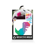 Reflective Berlin reflecterende stickers T-rex
