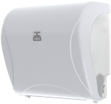 Dispenser Essentia Autocut für Handtuchrollen weiss / schwarz