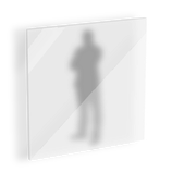 4mm ESG Glas einseitig satiniert (ESG4sati)