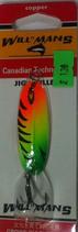Блесна форелевая  GROWS CULTURE WILL-MANS GC 60 мм, 7 гр.  Цвет 022/A, подложка - красно-фиолетовый