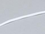 Platte elastiek - wit 4mm. / 5 meter