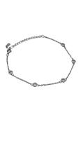 Armband met 5 schitterende Zirconen in Zetkast