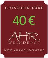 40 € Gutschein-Code per Mail