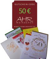 Grußbrief incl. Gutscheincode 50 € mit persönlichem Text