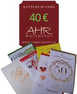 Grußbrief incl. Gutscheincode 40 € mit persönlichem Text