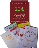 Grußbrief incl. Gutscheincode 20 € mit persönlichem Text