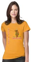 Damen T-Shirt kurzarm  -  ` AMAZING `,Golfresort ` - in Farbe gelb