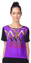 Chiffon Bluse lila  ` Felicitas ` - Farbe 18 oder in ihrer Wunschfarbe s.o. ?