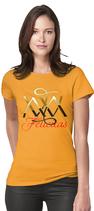 Damen T-Shirt kurzarm - GELB  - ` FELICITAS ` mit ihren eigenen Wunschnamen