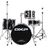 """18"""" Transit Drum Kit  4 Piece Metallic Blue - With Cymbals and Stool"""