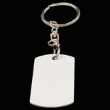 Aluminum Double Sided Sublimation Key Chain - Dog Tag