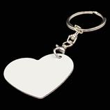 Aluminum Double Sided Sublimation Key Chain - Heart