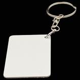 Aluminum Double Sided Sublimation Key Chain - Rectangle C
