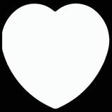 Heart Sublimation Ceramic Coaster