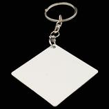 Aluminum Double Sided Sublimation Key Chain - Square