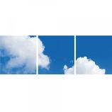 FOTOPRINT afbeelding wolk verdeeld over 3 panelen 595 x 595 mm F60WOLK3