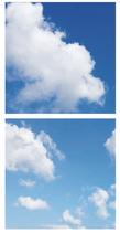 FOTOPRINT afbeelding wolk verdeeld over 2 panelen 595 x 595 mm F60WOLK2