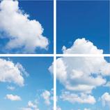 FOTOPRINT afbeelding wolk verdeeld over 4 panelen 595 x 595 mm F60WOLK4