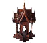 Tempelgeisterhaus Teak