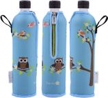Dora's Glasflasche mit Neoprenbezug mit Motiv 500 ml