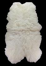 Peau de mouton mérinos naturelle blanche assemblée en quatro