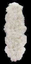 Peau de mouton mérinos naturelle blanche assemblée en duo