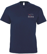 Tee shirt col V marine homme (SC22V)
