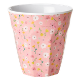 Rice - Melamine Cup Medium,  Pink Easter Flower Print