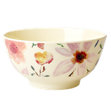 Rice - Melamine Bowl Two Tone with Selmas Flower Print